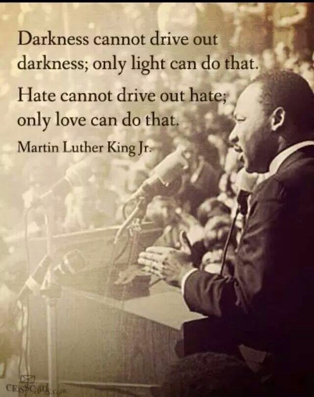 Cure for hate and darkness #Quote #Inspire