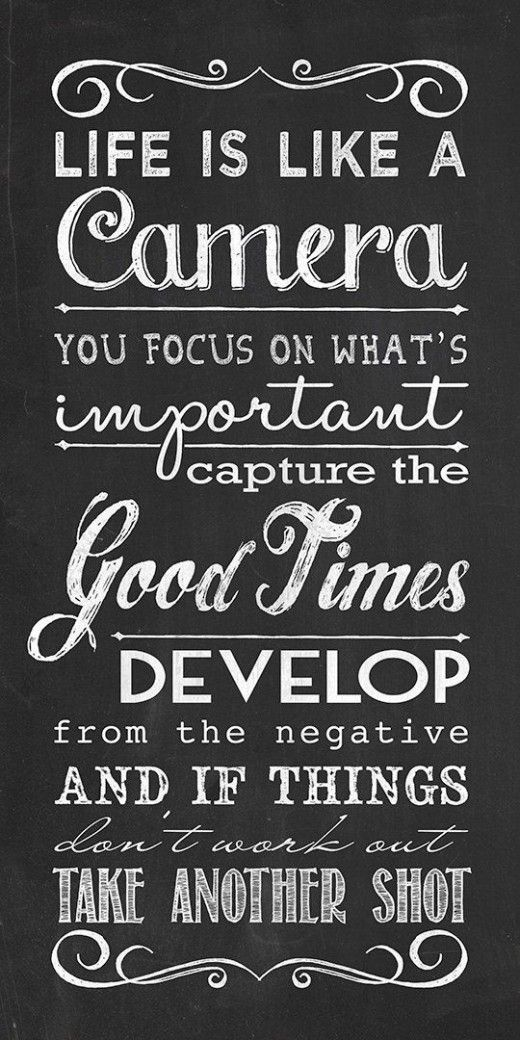 Quotes Life Magnificent Life Is Like A Camerayou Develop From A Negative.