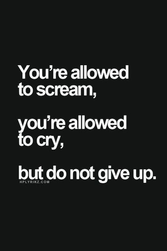 Never give up dammit #motivational