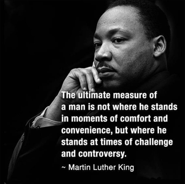 How do you determine a measure of a man? #Quote #MartinLutherKing