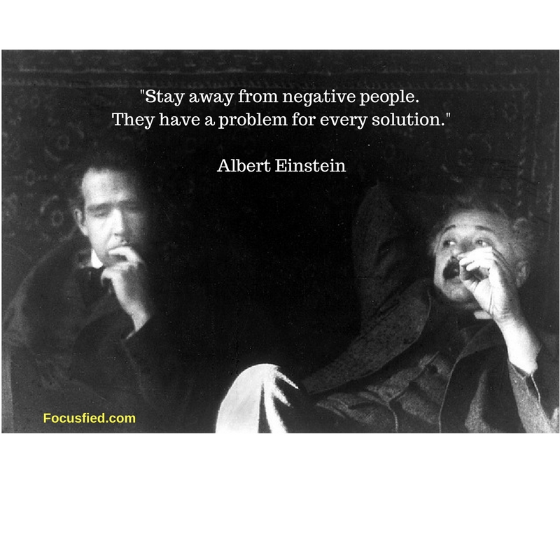 Stay away from negative people #Quote #AlbertEinstein