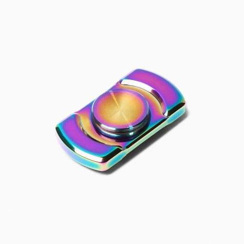 Spinner: Rainbow titanium plated stainless. Spin time: Up to 150 seconds or  more. Bearing cap: Rainbow titanium plated stainless