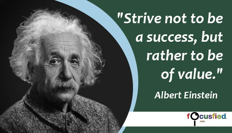Albert Einstein Quotes Strive Not Success: Massive List Of 150+ Success Quotes To Drive You