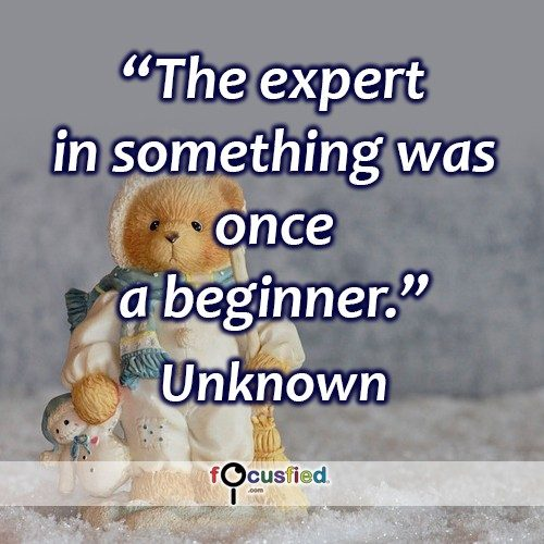 The expert in something was once a beginner. – Unknown
