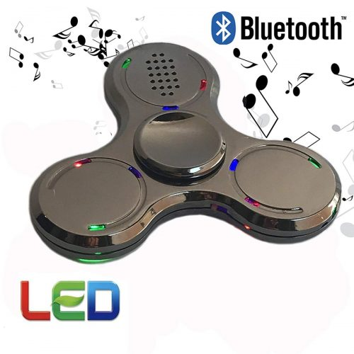 Stress Relief Toy Hot Selli Fashion Bluetooth Speaker Hand Spinner Led Light Abs Rechargeable Relieve Stress Hand Finger Music Gyro Fingertip Toys Distinctive For Its Traditional Properties